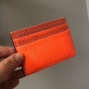 Burberry Bright Orange Sandon Card Wallet BNWT